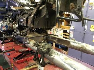 GL1500 Swing Arm Replaced